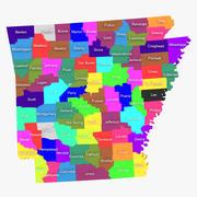 Округа Арканзас 3d model