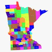 Minnesota Grafschaften 3d model