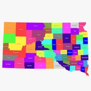 South Dakota Counties 3d model