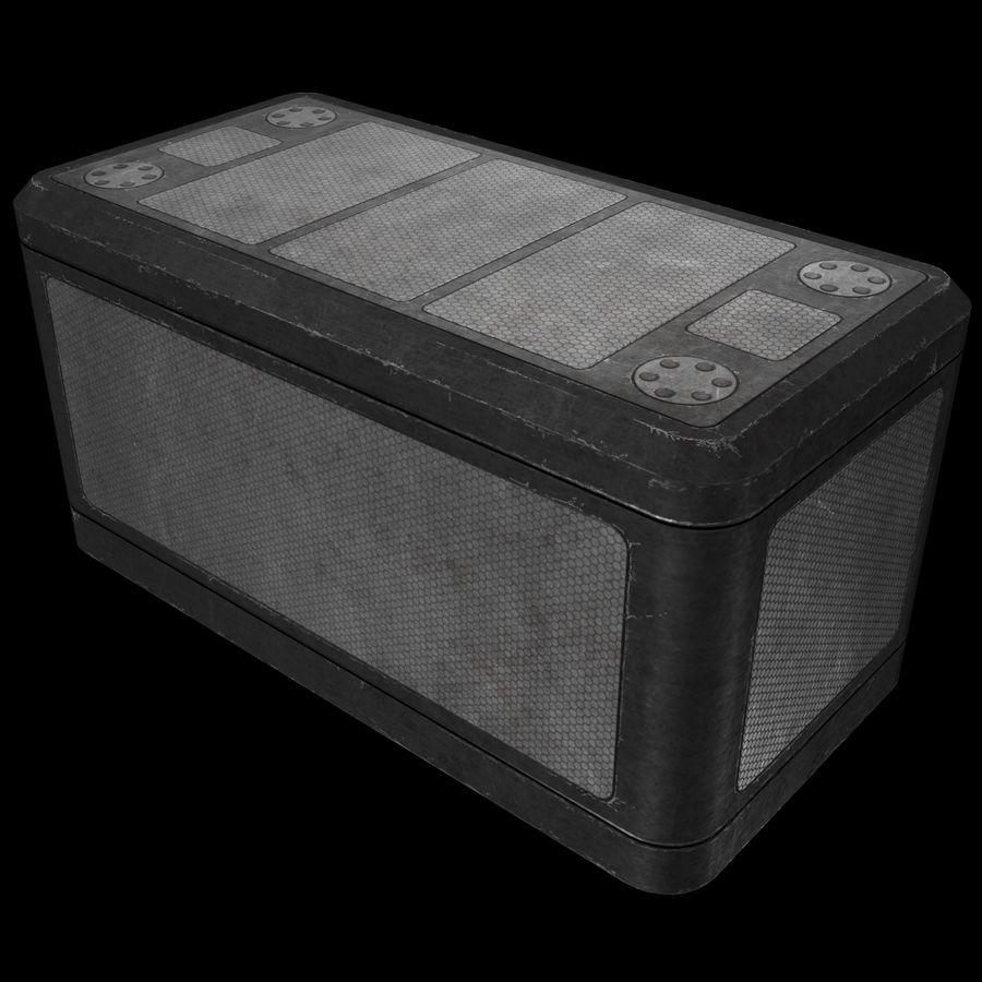 金属供应箱 royalty-free 3d model - Preview no. 2