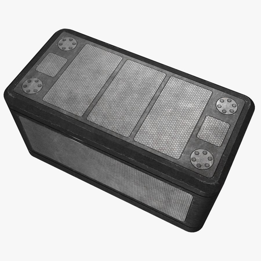 金属供应箱 royalty-free 3d model - Preview no. 3
