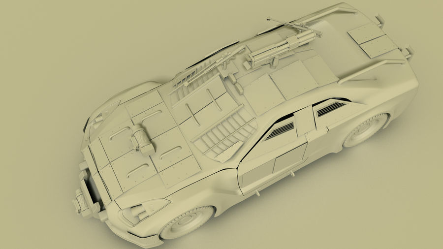 Nissan GTR royalty-free 3d model - Preview no. 6
