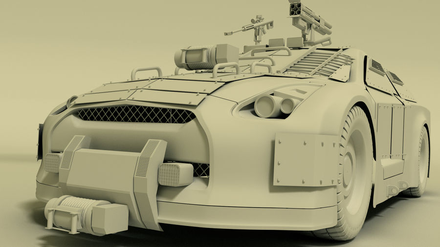 Nissan GTR royalty-free 3d model - Preview no. 3