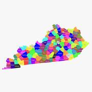Kentucky Counties 3d model