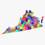 Virginia Counties 3d model
