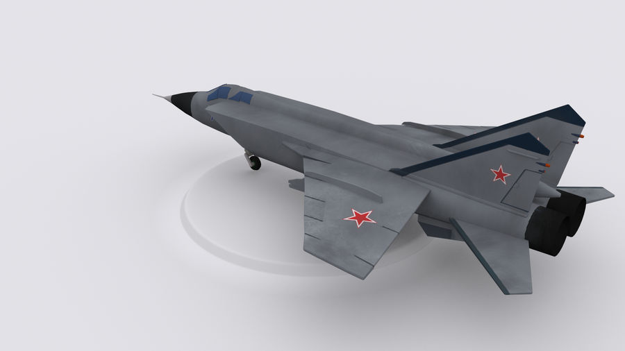 Mig 31 royalty-free 3d model - Preview no. 2