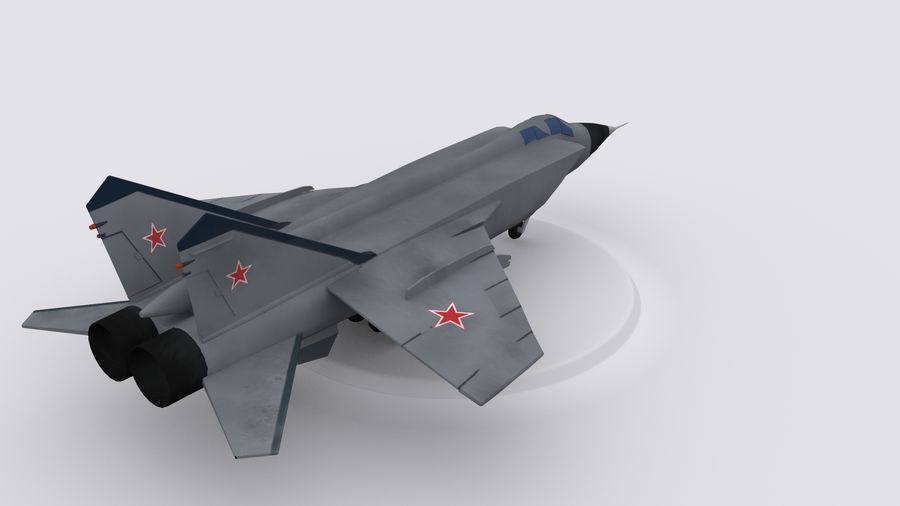 Mig 31 royalty-free 3d model - Preview no. 3