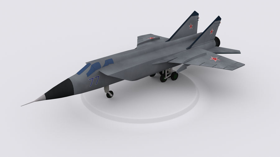 Mig 31 royalty-free 3d model - Preview no. 1