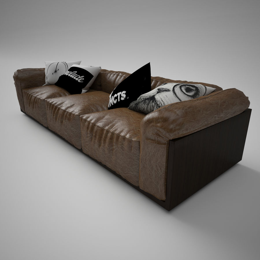 Sofa royalty-free 3d model - Preview no. 5
