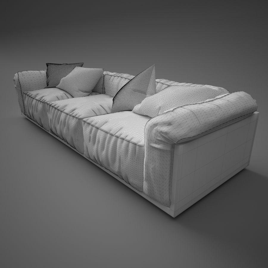 Sofa royalty-free 3d model - Preview no. 9