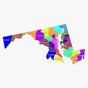 Округа Мэриленд и округ Колумбия 3d model