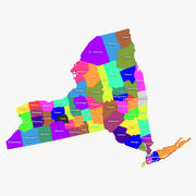 New York Counties 3d model