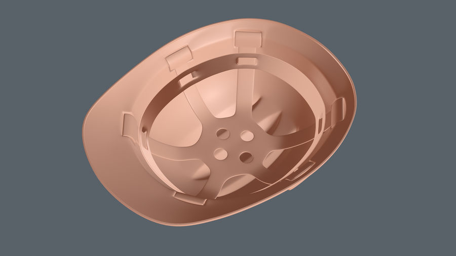Elmetto da cantiere royalty-free 3d model - Preview no. 10
