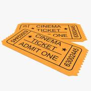 Cinema Ticket 3d model