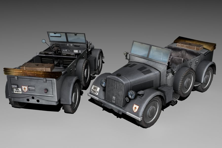 901 Kfz.15 Car royalty-free 3d model - Preview no. 1