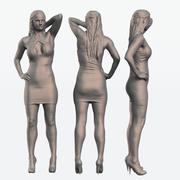 Lady Pose 1 3d model
