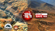 Two rocky mountains with 10 percent discount 3d model