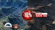 Two American rocky mountains 10 percent Discount 3d model