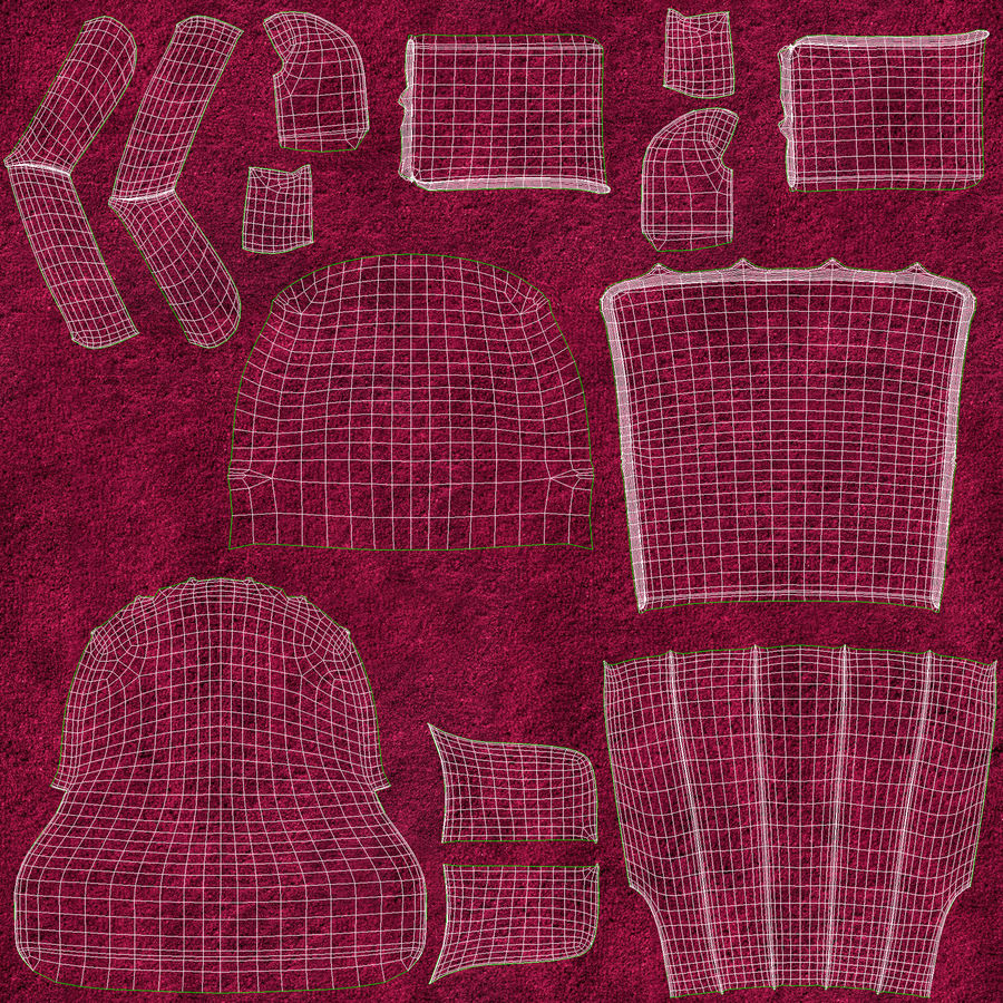 Sillón royalty-free modelo 3d - Preview no. 13