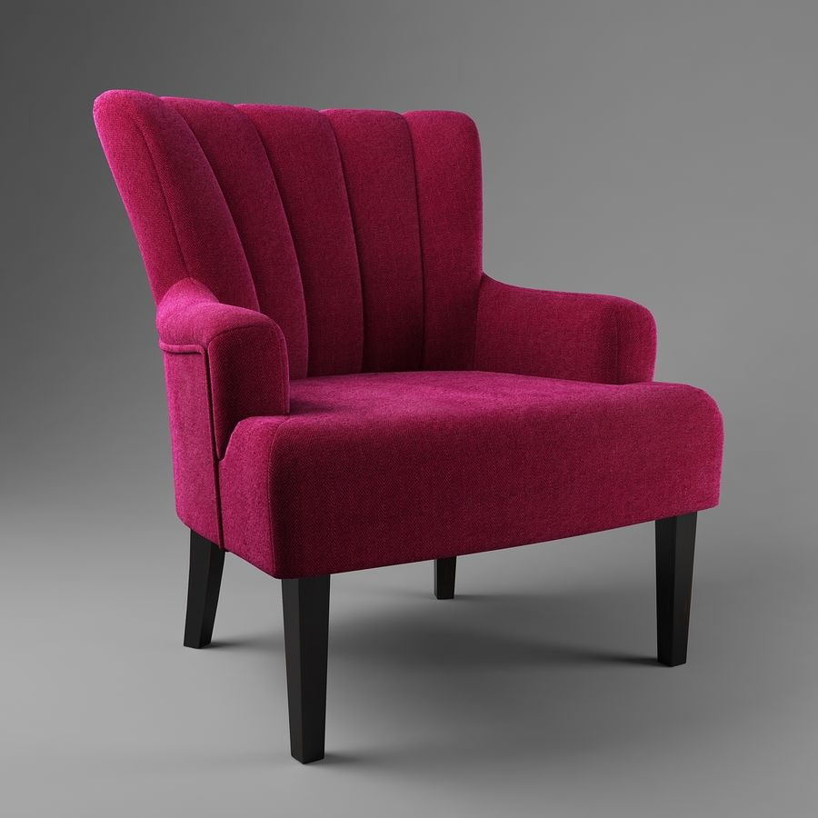 Sillón royalty-free modelo 3d - Preview no. 4