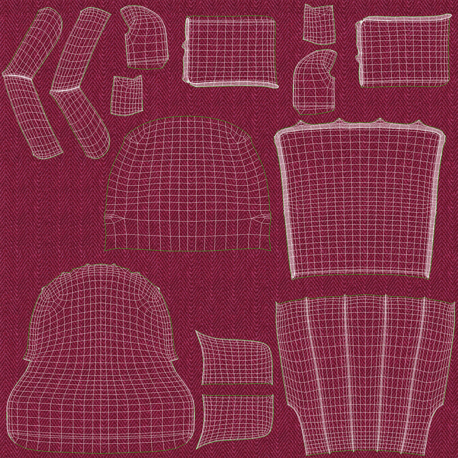 Sillón royalty-free modelo 3d - Preview no. 14