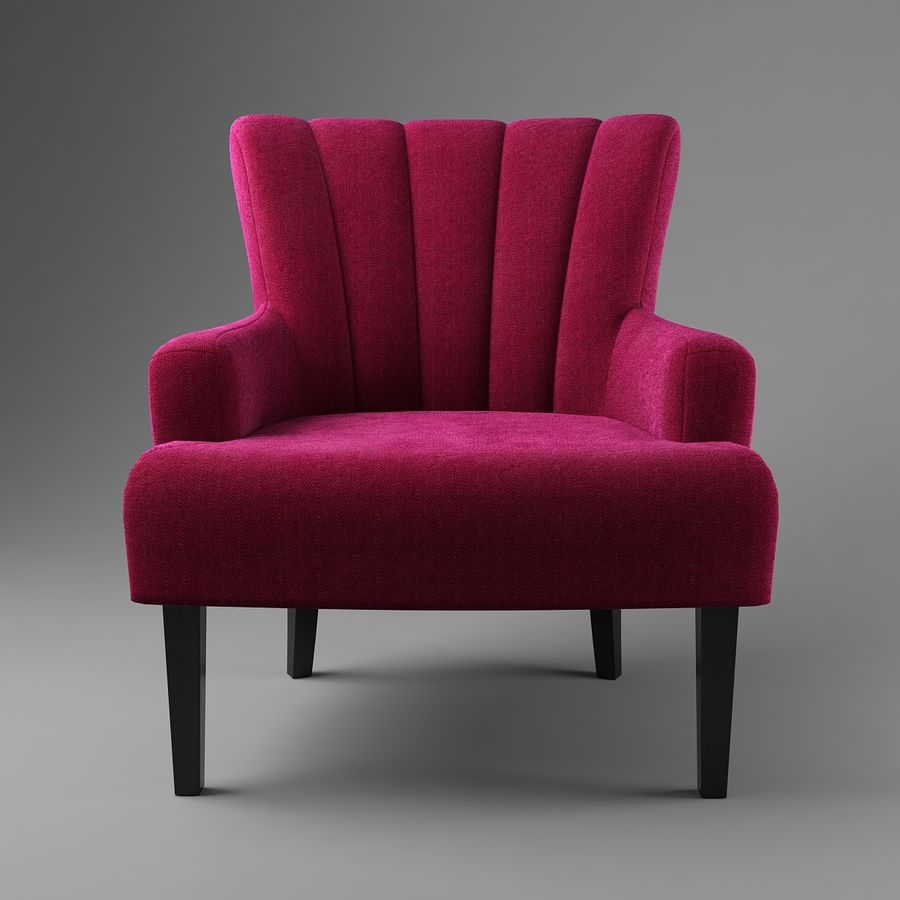 Sillón royalty-free modelo 3d - Preview no. 3