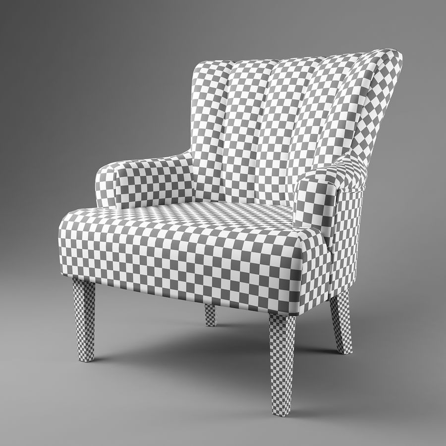 Sillón royalty-free modelo 3d - Preview no. 8