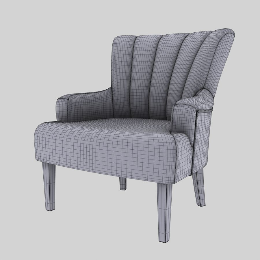 Sillón royalty-free modelo 3d - Preview no. 10