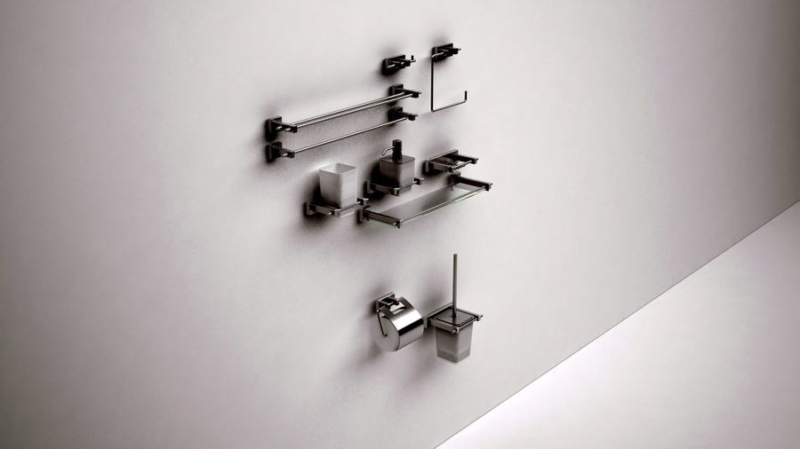 bathroom accessories royalty-free 3d model - Preview no. 6