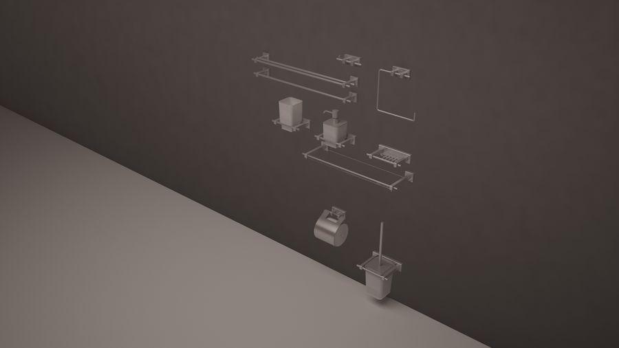 banyo aksesuarları royalty-free 3d model - Preview no. 5