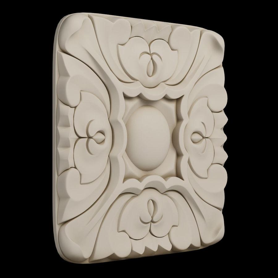 Elemento de arquitetura carving_01 royalty-free 3d model - Preview no. 6