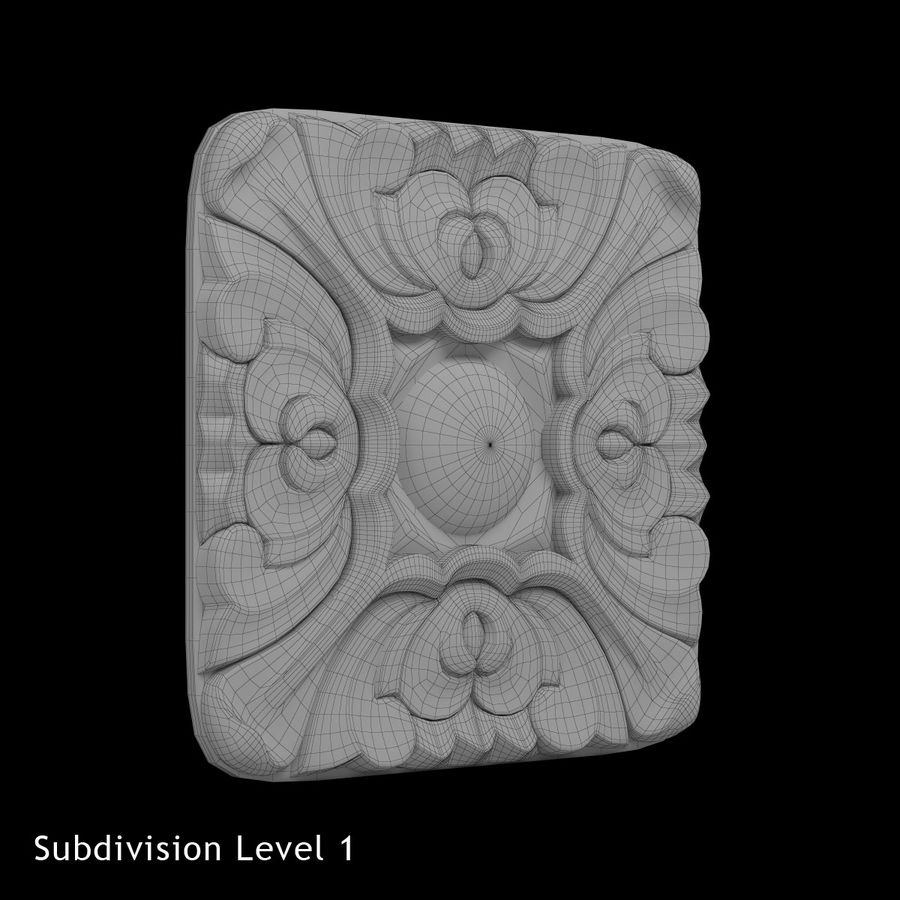 Elemento de arquitetura carving_01 royalty-free 3d model - Preview no. 4