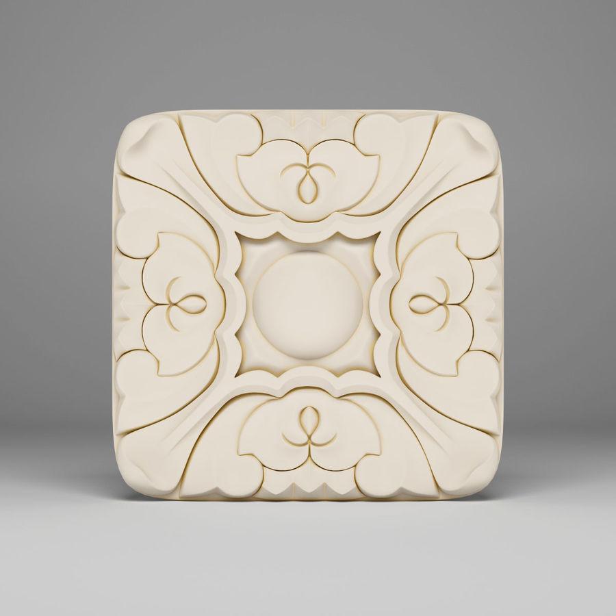 Elemento de arquitetura carving_01 royalty-free 3d model - Preview no. 2