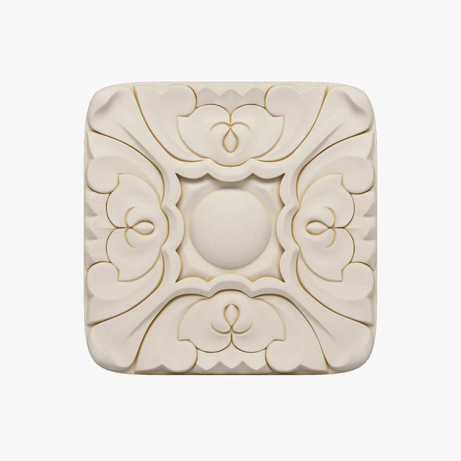 Elemento de arquitetura carving_01 royalty-free 3d model - Preview no. 1