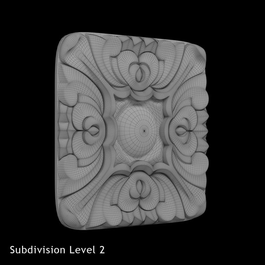 Elemento de arquitetura carving_01 royalty-free 3d model - Preview no. 3