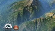 Grasrijke bergen Midden-Europa 3d model