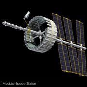 Modular Space Station 3d model