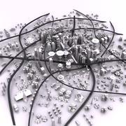 Miasto science fiction 3d model