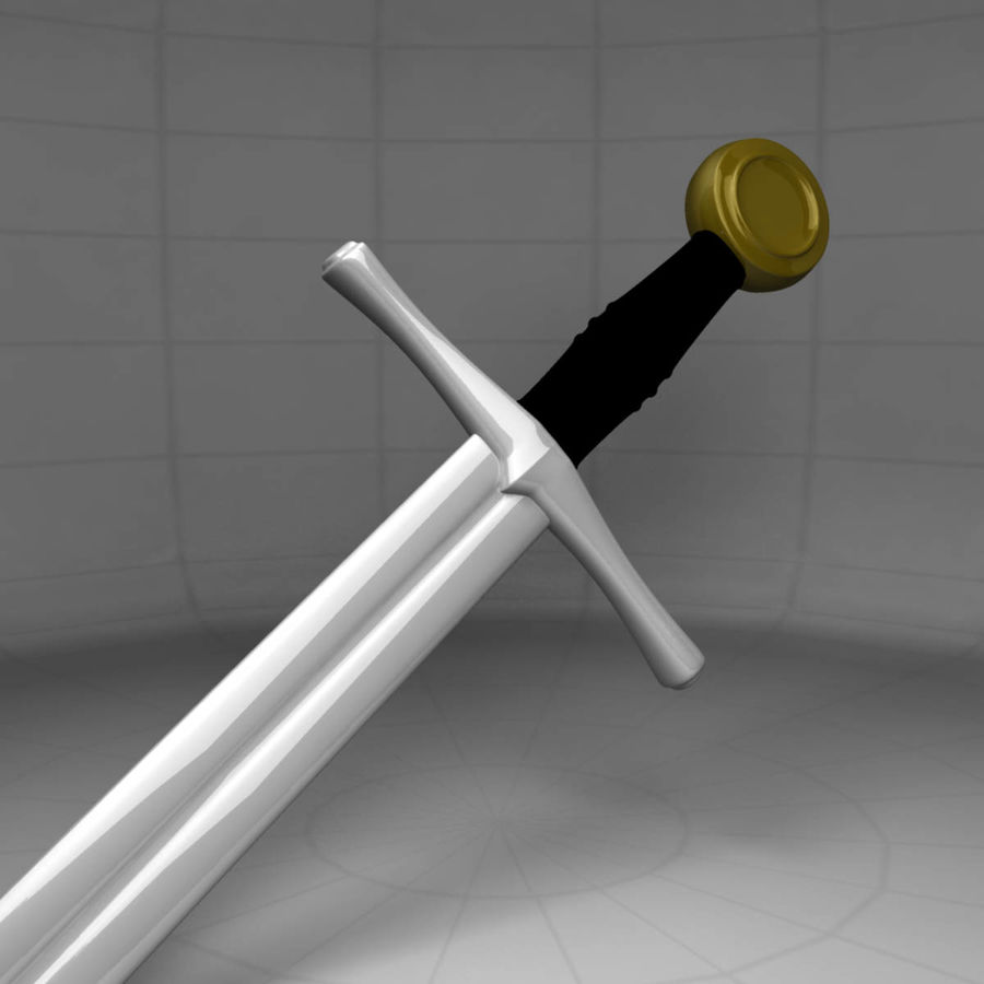 Two Edged Sword royalty-free 3d model - Preview no. 3