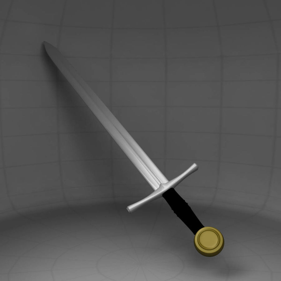 Two Edged Sword royalty-free 3d model - Preview no. 5