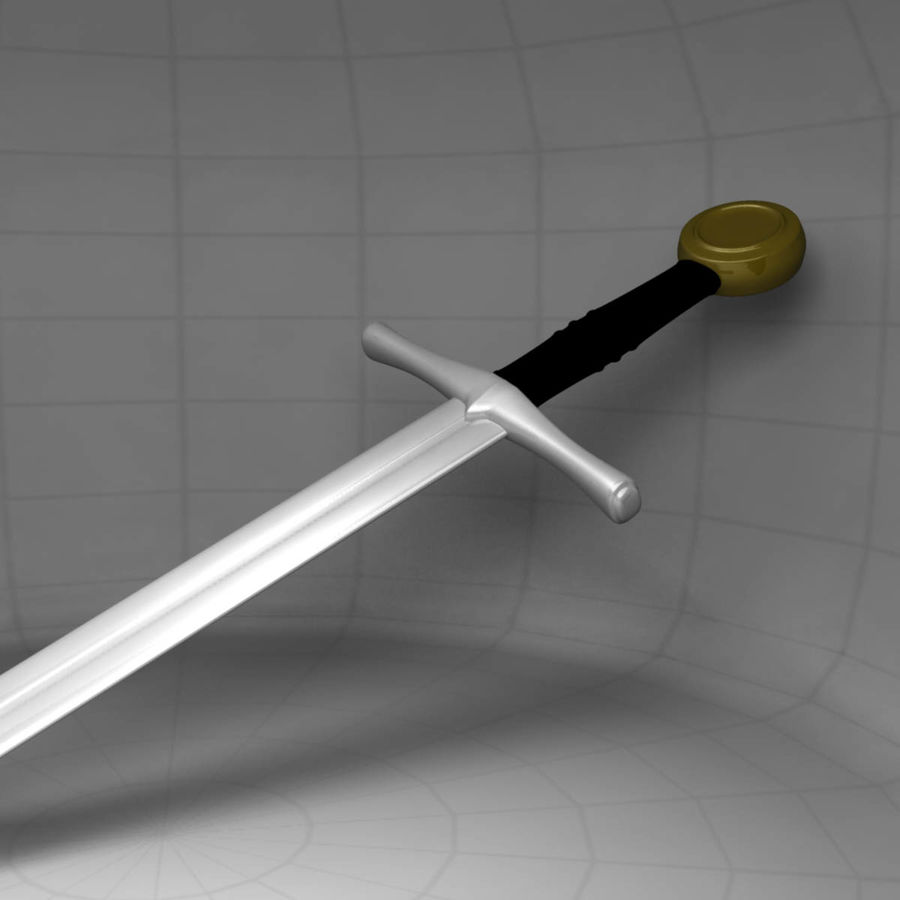 Two Edged Sword royalty-free 3d model - Preview no. 6