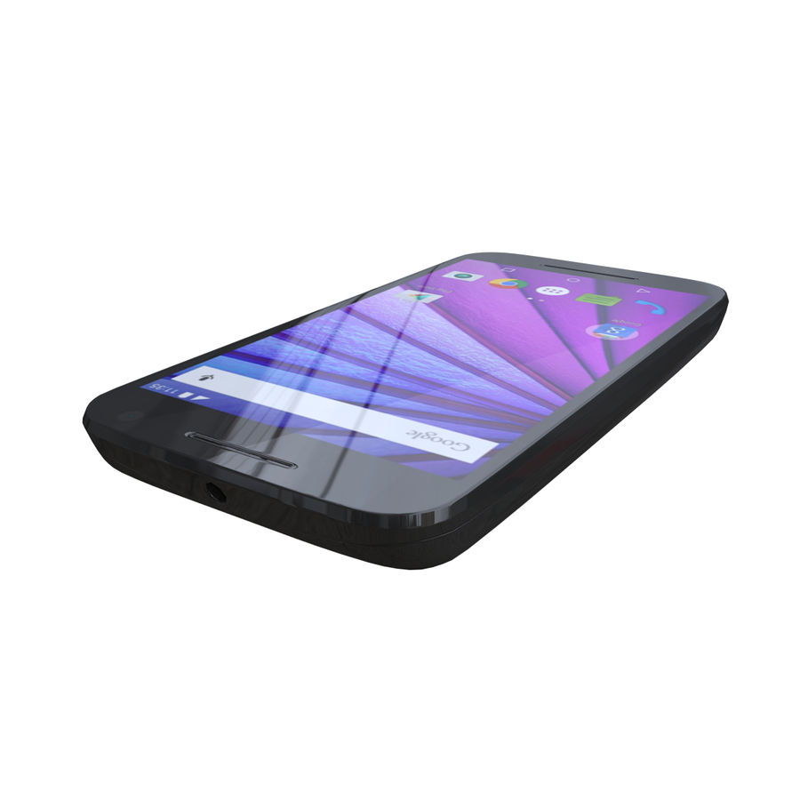 Motorola Moto G 3rd Gen royalty-free 3d model - Preview no. 3