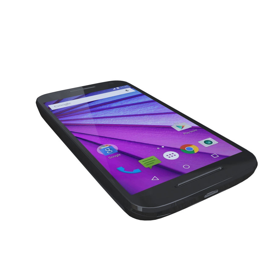 Motorola Moto G 3rd Gen royalty-free 3d model - Preview no. 2