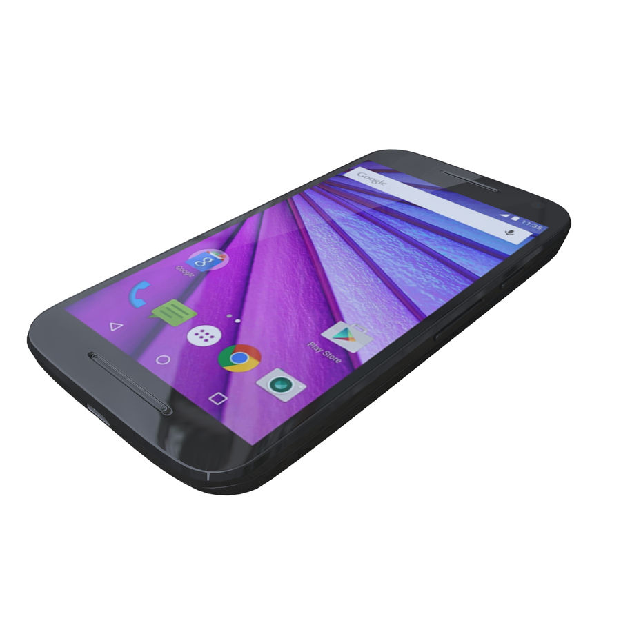 Motorola Moto G 3rd Gen royalty-free 3d model - Preview no. 1