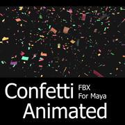 Confetti Animated FBX Pour Maya / Max 3d model