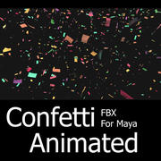 Confetti Animated FBX For Maya / Max 3d model