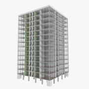 Torre Zwesh três com interior texturizado 3d model