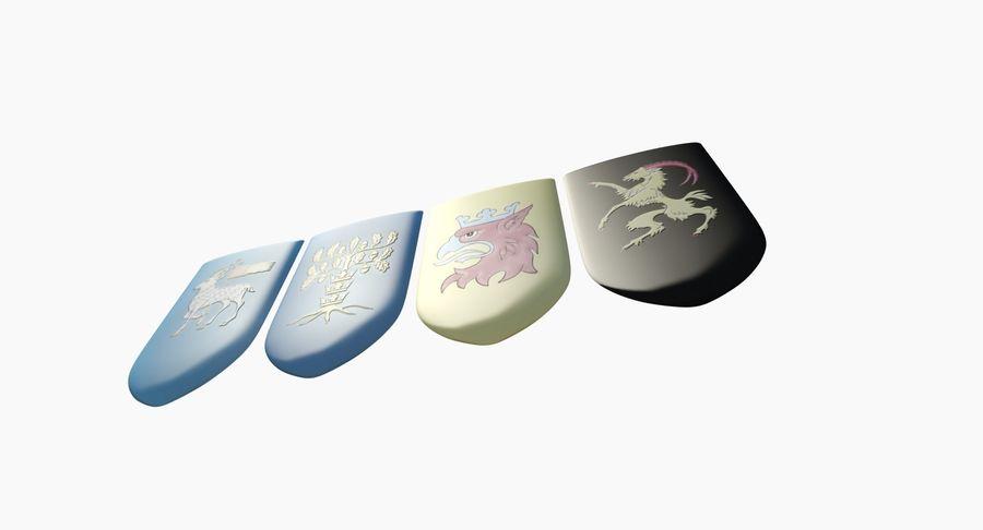 Escudo de armas royalty-free modelo 3d - Preview no. 5