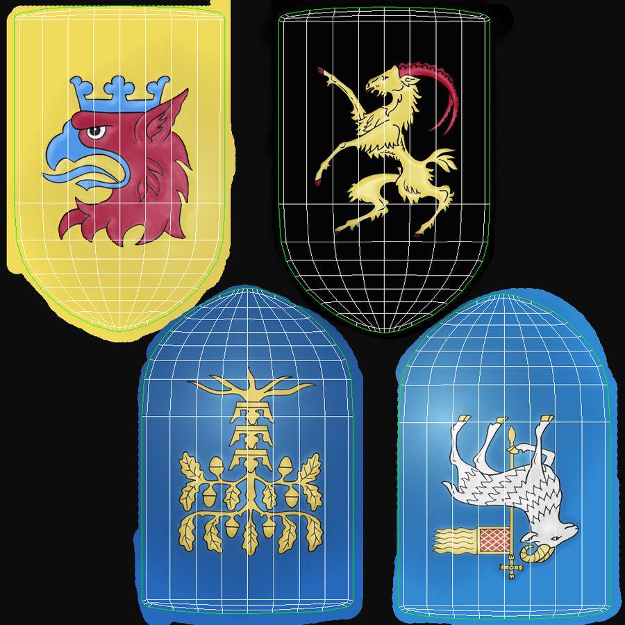 Escudo de armas royalty-free modelo 3d - Preview no. 10