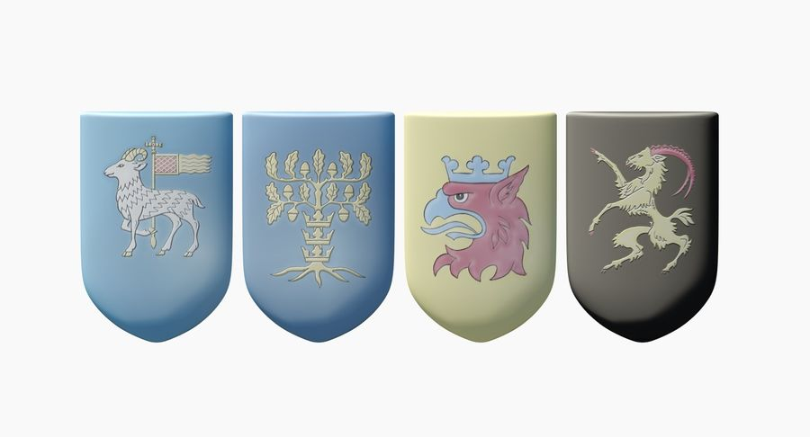 Escudo de armas royalty-free modelo 3d - Preview no. 4